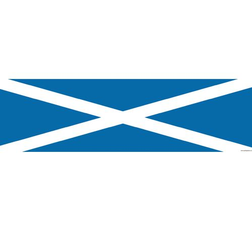 Scottish St. Andrew's Themed Flag Banner - 120 x 30cm