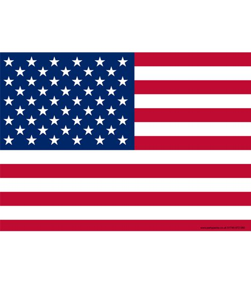 American Themed Flag Poster - A3