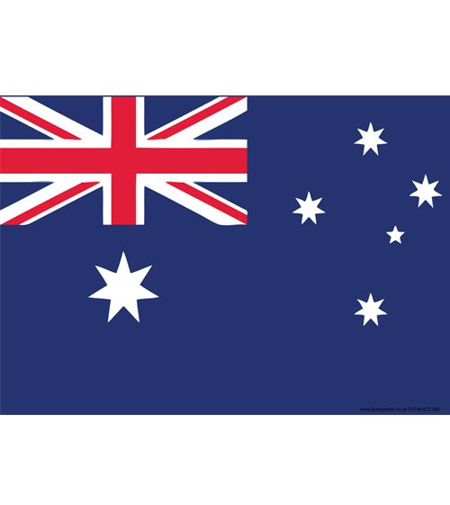 Australian Themed Flag Poster - A3