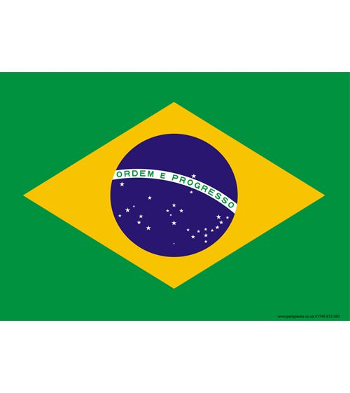 Brazil Themed Flag Poster - A3