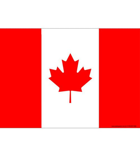 Canadian Themed Flag Poster A3