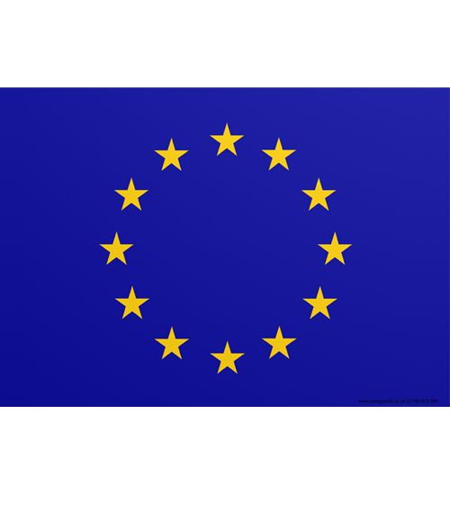 European Union Themed Flag Poster - A3