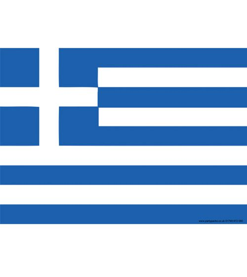 Greek Themed Flag Poster - A3