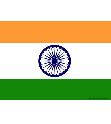 Indian Themed Flag Poster A3
