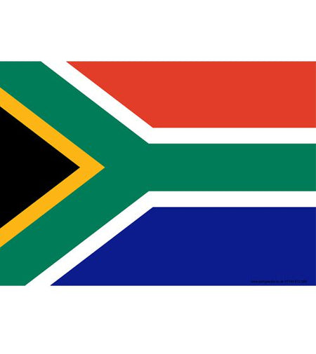 South Africa Themed Flag Poster - A3