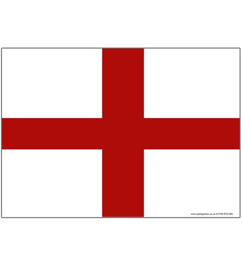 England St George's Day Themed Flag Poster - A3