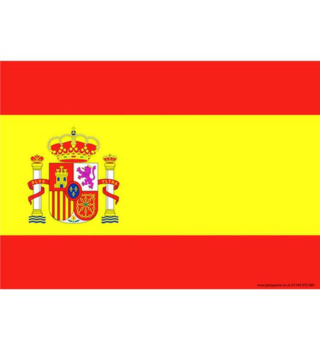 Spanish Themed Flag Poster - A3