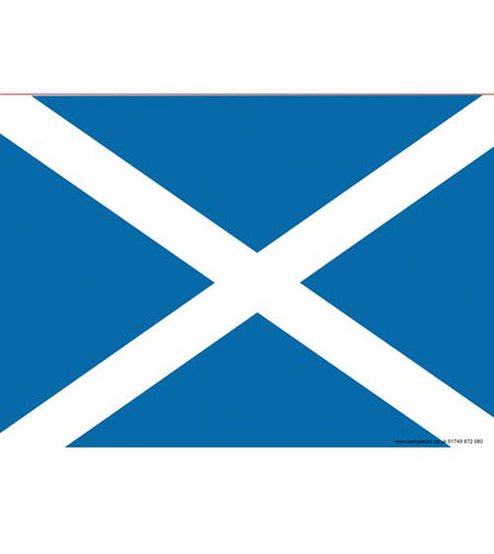 Scottish St. Andrew's Themed Flag Poster - A3