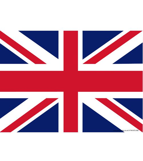 British Union Jack Themed Flag Poster - A3