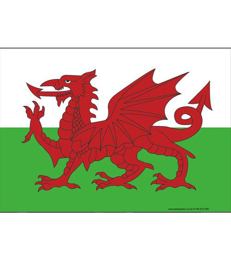 Welsh Themed Flag Poster - A3