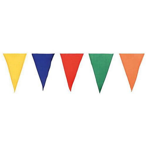 Multi-Coloured Cotton Bunting - 24 Flags - 10m