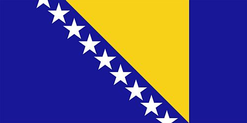 Bosnia & Herzegovina Polyester Fabric Flag - 5ft x 3ft