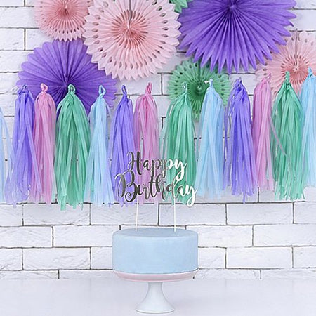 Pastel Colour Tassel Garland Kit - 1.5m
