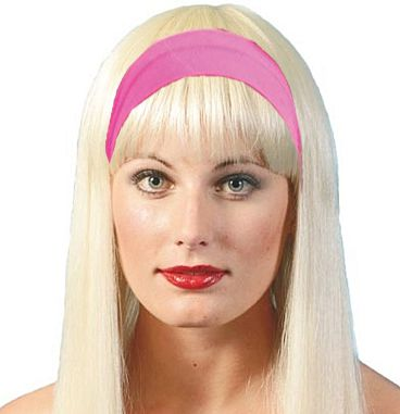 80's Hairband- Pink