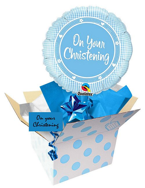 "Send a Balloon 18"" On Your Christening Boy"