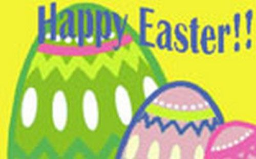 Easter Polyester Fabric Flag 1.5m