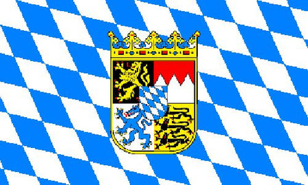 Bavaria with Crest Cloth Flag 5ft x 3ft