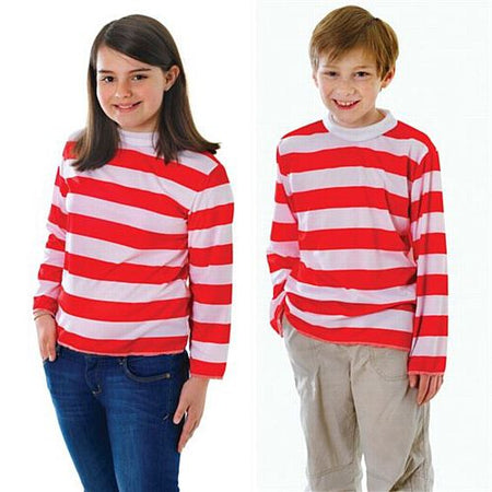 Children's Red & White Striped Jumper