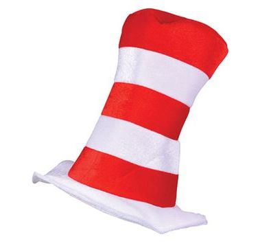 Red & White Striped Children's Top Hat