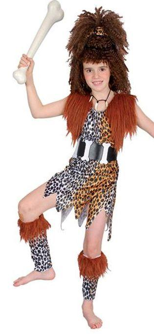 Cave Girl Costume and Wig