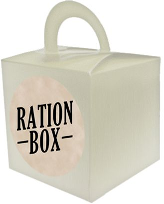 WW1 Ration Novelty Box & Sticker Set - Each