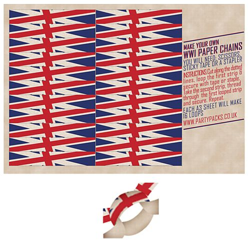 WW1 Centenary Paper Chain Kit - A3 Card