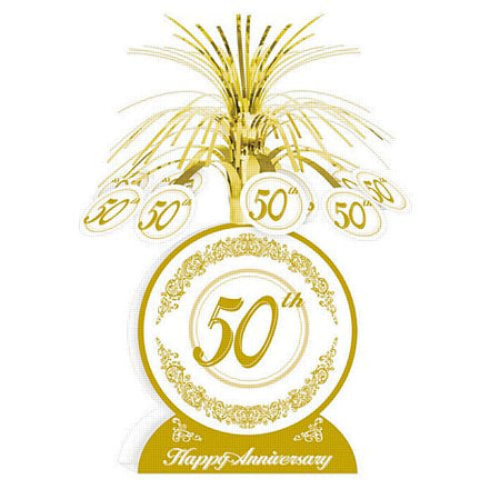 Click to view product details and reviews for 50th Anniversary Centrepiece 13 35cm.