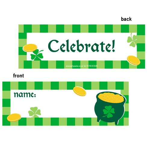 Pot-o-Gold Placecards - Pack of 8