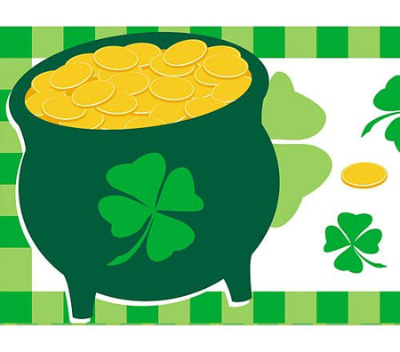 Pot-o-Gold Themed Paper Table Runner - 120cm x 30cm