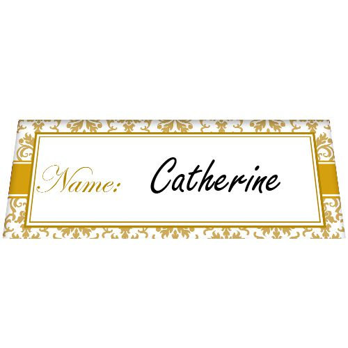 Golden Elegance Placecards - Pack of 8