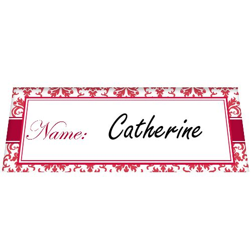Ruby Elegance Placecards - Pack of 8