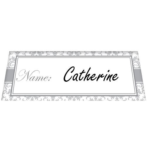Silver Elegance Placecards - Pack of 8