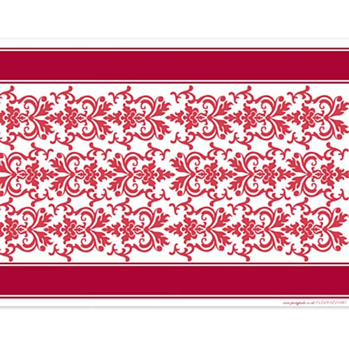 Ruby Elegance Paper Table Runner - 120 x 30cm
