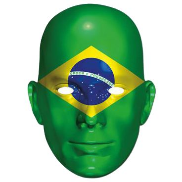 Brazil International Flag Masks Card Mask