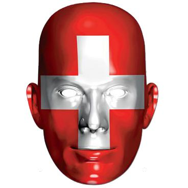 Switzerland International Flag Masks Card Mask