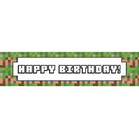 Pixel Blocks Happy Birthday Banner - 1.2m