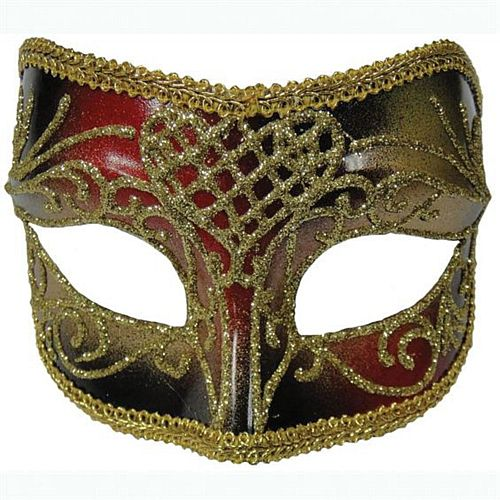 Red and Gold Male Mask- Glasses Style