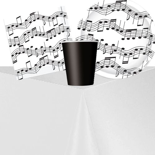 Musical Notes Party Pack - For 8 People