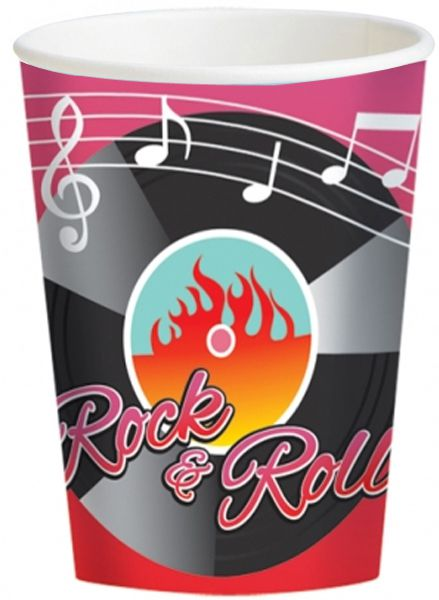 50's Classic Paper Cups - Pack of 8