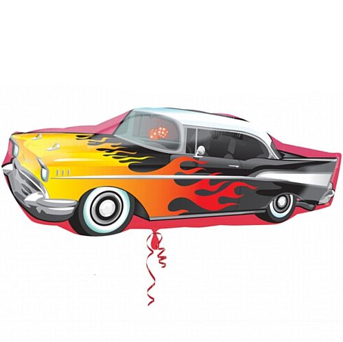"50's Classic Rockin' Car Supershape Balloon - 35""x13"""