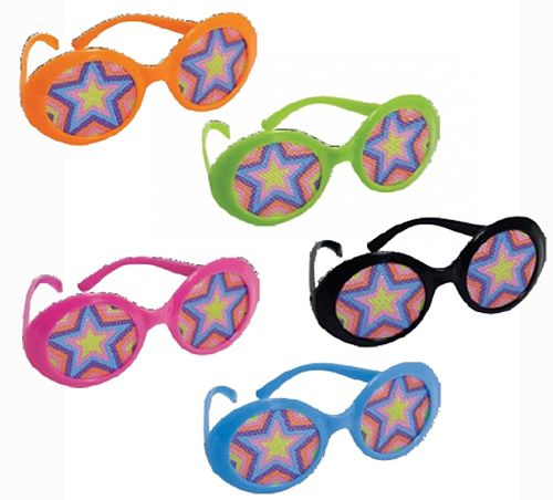 70's Disco Fever Assorted Colour Glasses