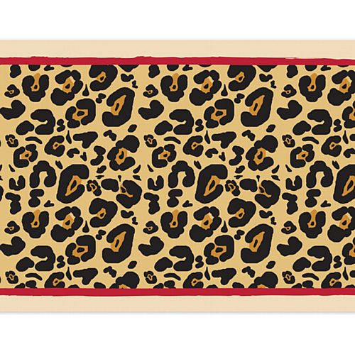 Cheetah Themed Paper Table Runner - 120cm x 30cm