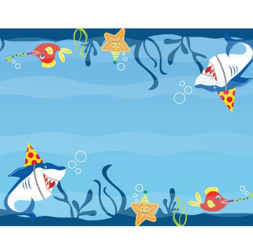 Shark Buddies Paper Table Runner - 120cm x 30cm