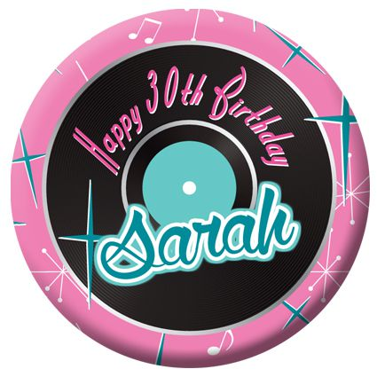 Personalised 1950's Themed Badge - 58mm - Each