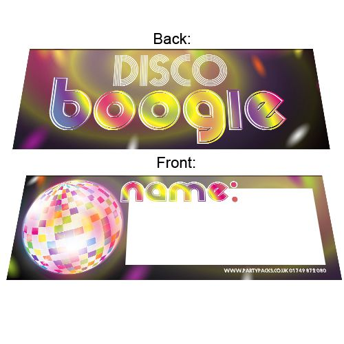 70's Disco Party Placecards - Pack of 8