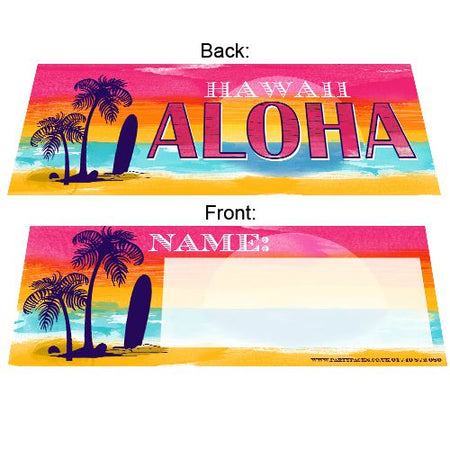 Tropical Sunset Placecards - Pack of 8