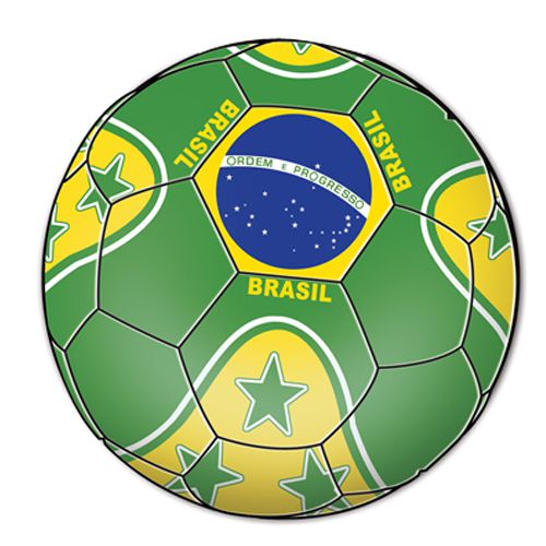 Brazil Football Cutout - Printed 2 sides - 35.6cm