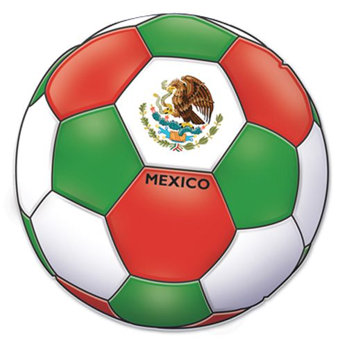Mexico Football Cutout - Printed 2 sides - 35.6cm