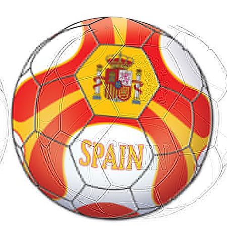 Spain Football Cutout - Printed 2 sides - 35.6cm