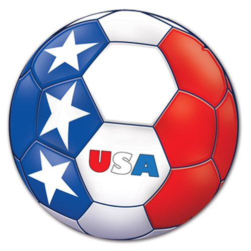 United States Football Card Cutout Wall Decoration - Printed 2 sides - 35.6cm